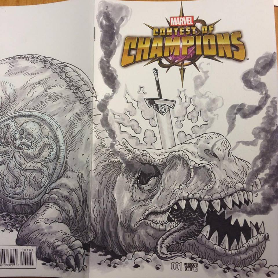 Kyle Latino's Sketch Cover for the Raffle